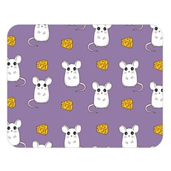 Cute Mouse Pattern Double Sided Flano Blanket (large)