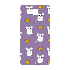 Cute Mouse Pattern Samsung Galaxy Alpha Hardshell Back Case by Valentinaart