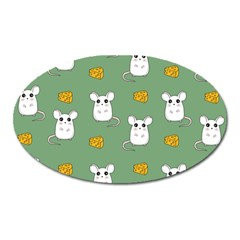 Cute Mouse Pattern Oval Magnet