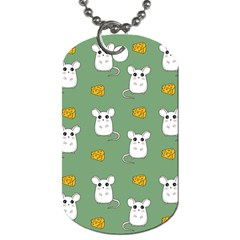 Cute Mouse Pattern Dog Tag (one Side) by Valentinaart