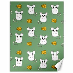 Cute Mouse Pattern Canvas 36  X 48   by Valentinaart