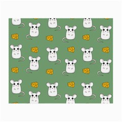 Cute Mouse Pattern Small Glasses Cloth (2 Side) by Valentinaart