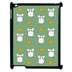 Cute Mouse Pattern Apple Ipad 2 Case (black) by Valentinaart