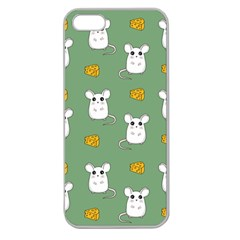Cute Mouse Pattern Apple Seamless Iphone 5 Case (clear)