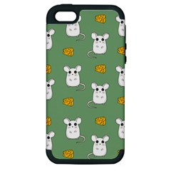 Cute Mouse Pattern Apple Iphone 5 Hardshell Case (pc+silicone)
