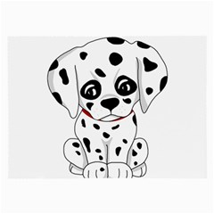 Cute Dalmatian Puppy  Large Glasses Cloth (2 Side) by Valentinaart