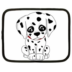 Cute Dalmatian Puppy  Netbook Case (large) by Valentinaart