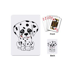 Cute Dalmatian Puppy  Playing Cards (mini)  by Valentinaart