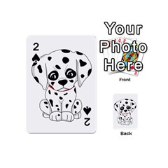 Cute Dalmatian Puppy  Playing Cards 54 (mini)  by Valentinaart