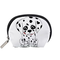 Cute Dalmatian Puppy  Accessory Pouches (small)