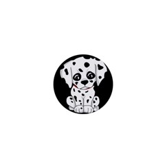 Cute Dalmatian Puppy  1  Mini Buttons by Valentinaart