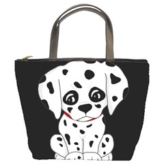 Cute Dalmatian Puppy  Bucket Bags by Valentinaart