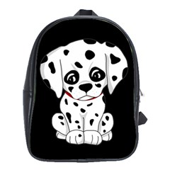 Cute Dalmatian Puppy  School Bag (large) by Valentinaart