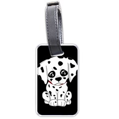 Cute Dalmatian Puppy  Luggage Tags (one Side)  by Valentinaart