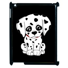 Cute Dalmatian Puppy  Apple Ipad 2 Case (black) by Valentinaart