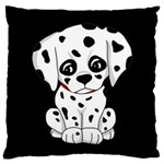 Cute Dalmatian puppy  Large Cushion Case (Two Sides) Back