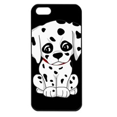 Cute Dalmatian Puppy  Apple Iphone 5 Seamless Case (black)