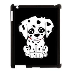 Cute Dalmatian Puppy  Apple Ipad 3/4 Case (black) by Valentinaart