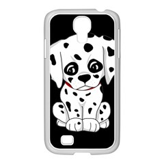 Cute Dalmatian Puppy  Samsung Galaxy S4 I9500/ I9505 Case (white) by Valentinaart