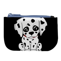 Cute Dalmatian Puppy  Large Coin Purse by Valentinaart