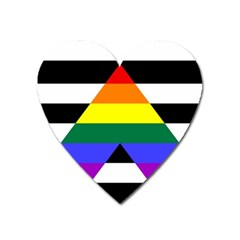 Straight Ally Flag Heart Magnet by Valentinaart