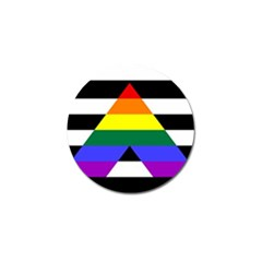 Straight Ally Flag Golf Ball Marker by Valentinaart