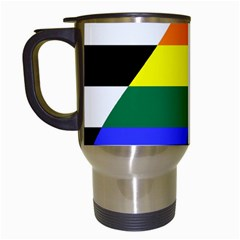 Straight Ally Flag Travel Mugs (white) by Valentinaart