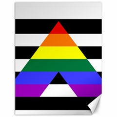 Straight Ally Flag Canvas 12  X 16   by Valentinaart