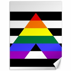 Straight Ally Flag Canvas 36  X 48   by Valentinaart