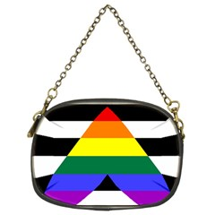 Straight Ally Flag Chain Purses (two Sides)  by Valentinaart