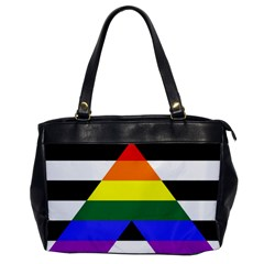 Straight Ally Flag Office Handbags by Valentinaart