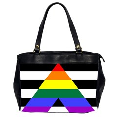 Straight Ally Flag Office Handbags (2 Sides)  by Valentinaart
