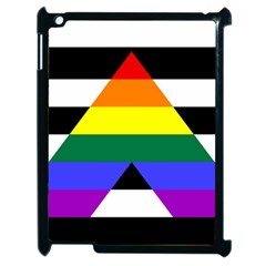 Straight Ally Flag Apple Ipad 2 Case (black) by Valentinaart