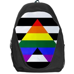 Straight Ally Flag Backpack Bag by Valentinaart