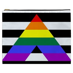 Straight Ally Flag Cosmetic Bag (xxxl)  by Valentinaart