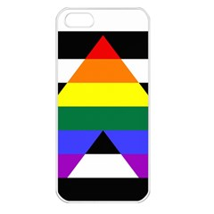 Straight Ally Flag Apple Iphone 5 Seamless Case (white) by Valentinaart