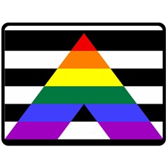 Straight Ally Flag Double Sided Fleece Blanket (large)