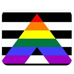 Straight Ally Flag Double Sided Flano Blanket (medium)  by Valentinaart