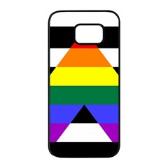 Straight Ally Flag Samsung Galaxy S7 Edge Black Seamless Case