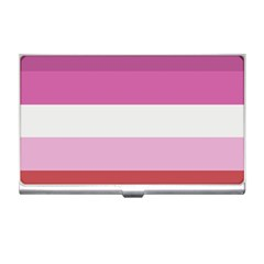 Lesbian Pride Flag Business Card Holders by Valentinaart