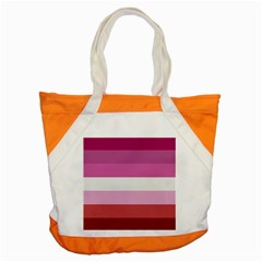 Lesbian Pride Flag Accent Tote Bag by Valentinaart