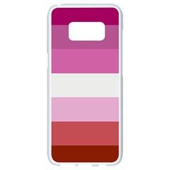 Lesbian Pride Flag Samsung Galaxy S8 White Seamless Case by Valentinaart