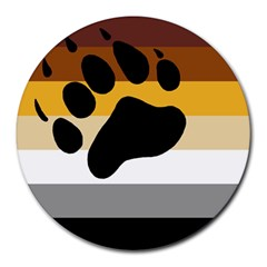 Bear Pride Flag Round Mousepads