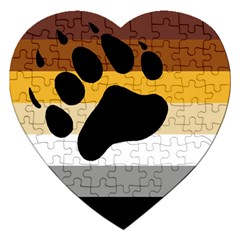 Bear Pride Flag Jigsaw Puzzle (heart)