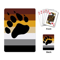 Bear Pride Flag Playing Card by Valentinaart