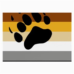 Bear Pride Flag Large Glasses Cloth (2 Side) by Valentinaart
