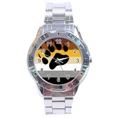 Bear Pride Flag Stainless Steel Analogue Watch by Valentinaart