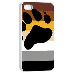 Bear Pride Flag Apple Iphone 4/4s Seamless Case (white) by Valentinaart