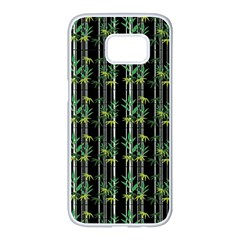 Bamboo Pattern Samsung Galaxy S7 Edge White Seamless Case