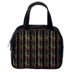 Bamboo Pattern Classic Handbags (one Side)